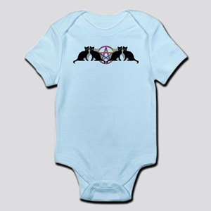 Black cat magic witch Infant Bodysuit