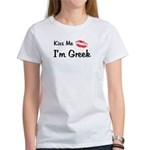 Kiss Me, I'm Greek Women's T-Shirt