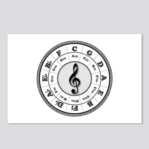 Grayscale Circle of Fifths Postcards (Package of 8