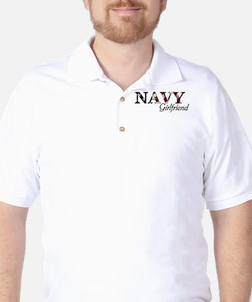 NAVY Girlfriend (Flag) Golf Shirt