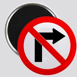 No Right Turn Magnet