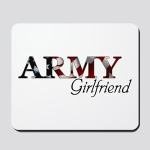 Army Girlfriend (Flag) Mousepad