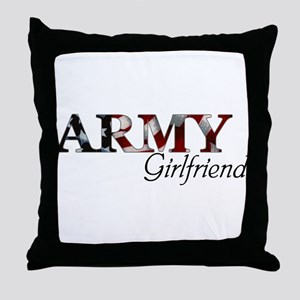 Army Girlfriend (Flag) Throw Pillow