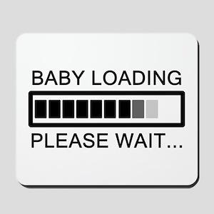 Baby Loading Please Wait Mousepad