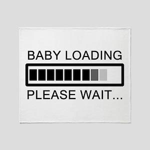 Baby Loading Please Wait Throw Blanket