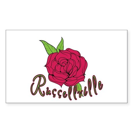 Russellville Rose Rectangle Sticker