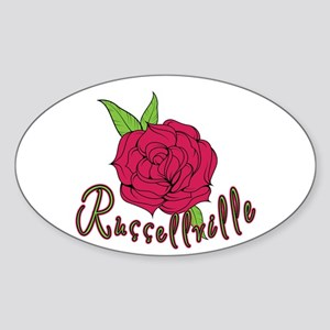 Russellville Rose Oval Sticker