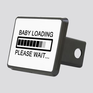 Baby Loading Please Wait Rectangular Hitch Cover