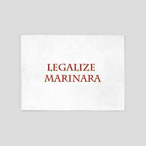 Funny Legalize Marinara 5'x7'Area Rug