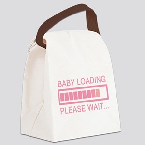 Baby Loading Please Wait Canvas Lunch Bag