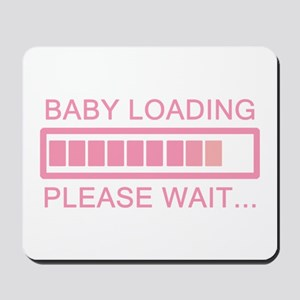 Baby Loading Please Wait Mousepad