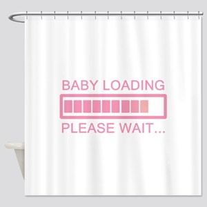Baby Loading Please Wait Shower Curtain