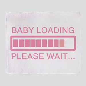 Baby Loading Please Wait Throw Blanket