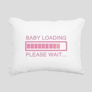 Baby Loading Please Wait Rectangular Canvas Pillow