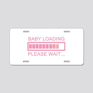 Baby Loading Please Wait Aluminum License Plate