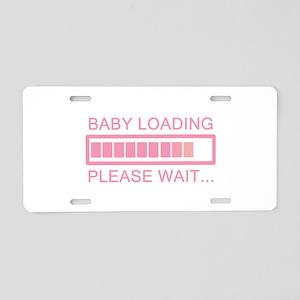 Baby Loading Please Wait Aluminum License Plate