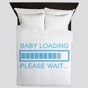 Baby Loading Please Wait Queen Duvet