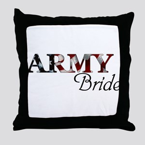 ARMY Bride Throw Pillow