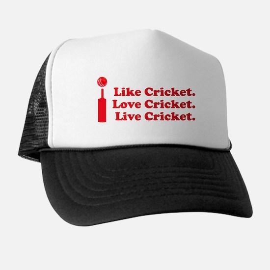 I live Cricket Trucker Hat