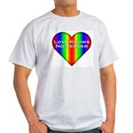 Love Knows No Gender Ash Grey T-Shirt