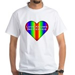 Love Knows No Gender White T-Shirt