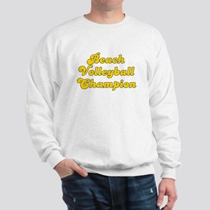 Retro Beach Volle.. (Gold) Sweatshirt