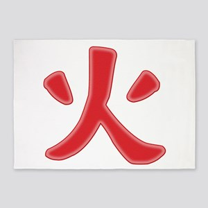 Hokage Icon 5'x7'Area Rug