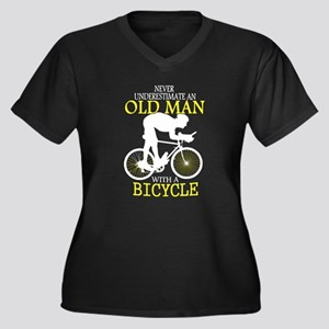 Old Man With Bicycle T Shirt Plus Size T-Shirt