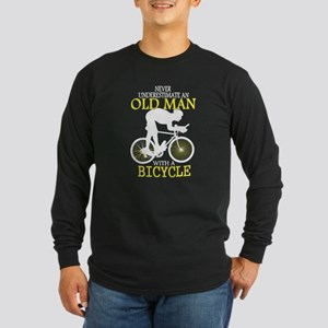 Old Man With Bicycle T Shirt Long Sleeve T-Shirt