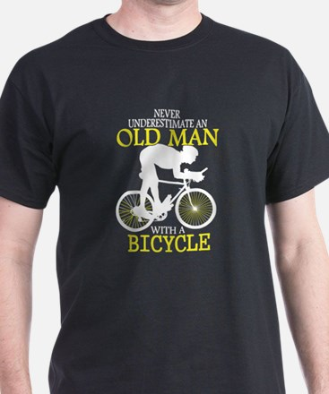 Old Man With Bicycle T Shirt T-Shirt