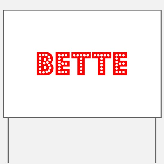 Retro Bette (Red) Yard Sign