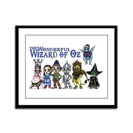 Cast of Characters in Oz Framed Panel Print