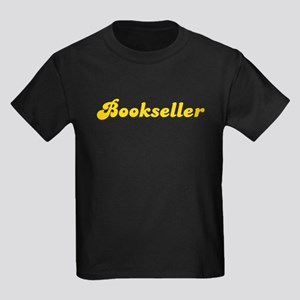 Retro Bookseller (Gold) Kids Dark T-Shirt