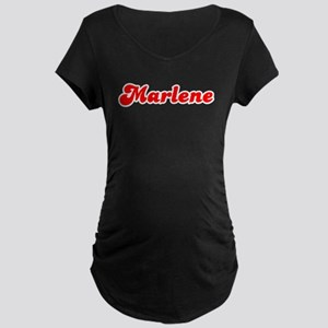 Retro Marlene (Red) Maternity Dark T-Shirt
