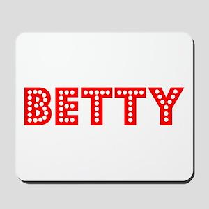 Retro Betty (Red) Mousepad