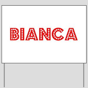 Retro Bianca (Red) Yard Sign