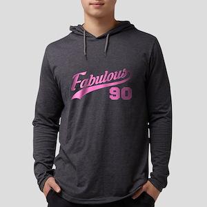 Pink 90th Birthday Long Sleeve T-Shirt