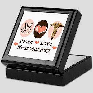 Peace Love Neurosurgery Keepsake Box
