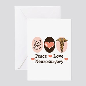 Peace Love Neurosurgery Greeting Card