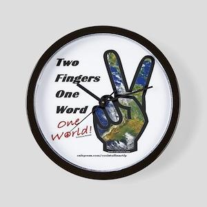 world peace sign Wall Clock