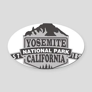 Yosemite - California Oval Car Magnet