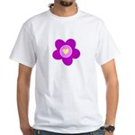 Flowers Are Fun White T-Shirt