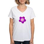 Flowers Are Fun Women's V-Neck T-Shirt