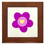Flowers Are Fun Framed Tile