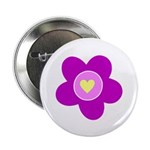 """Flowers Are Fun 2.25"""" Button (100 pack)"""