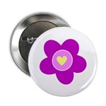 """Flowers Are Fun 2.25"""" Button"""