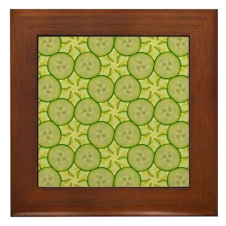 Framed Cucumber Tile