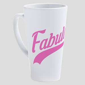 Pink 18th Birthday 17 oz Latte Mug