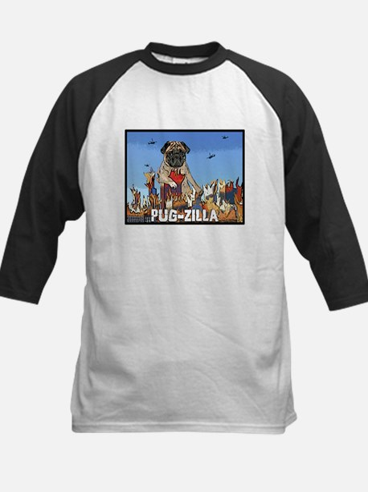 Pug-zilla Kids Baseball Jersey