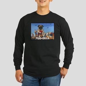 Pug-zilla Long Sleeve Dark T-Shirt